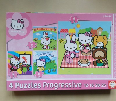 Puzzle Hello Kitty 4v1